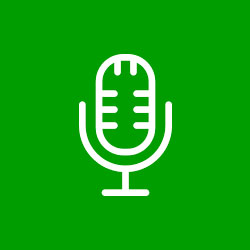 Ícone de um microfone